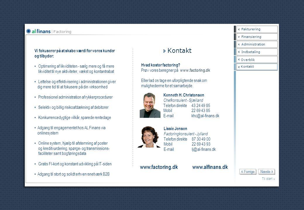 Kontakt www.factoring.dk www.alfinans.dk