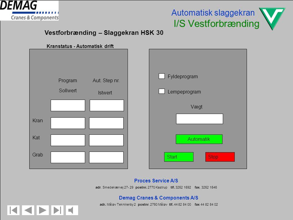 Automatisk slaggekran I/S Vestforbrænding