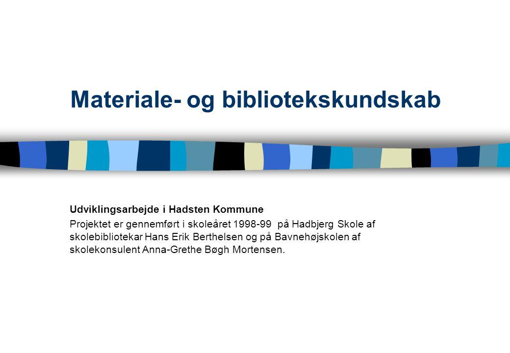 Materiale- og bibliotekskundskab