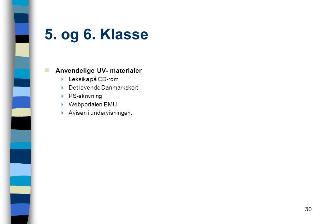 5. og 6. Klasse Anvendelige UV- materialer Leksika på CD-rom