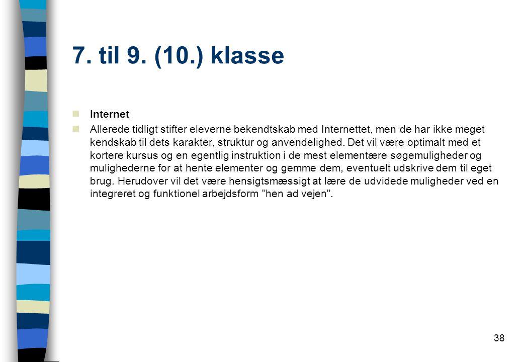 7. til 9. (10.) klasse Internet.