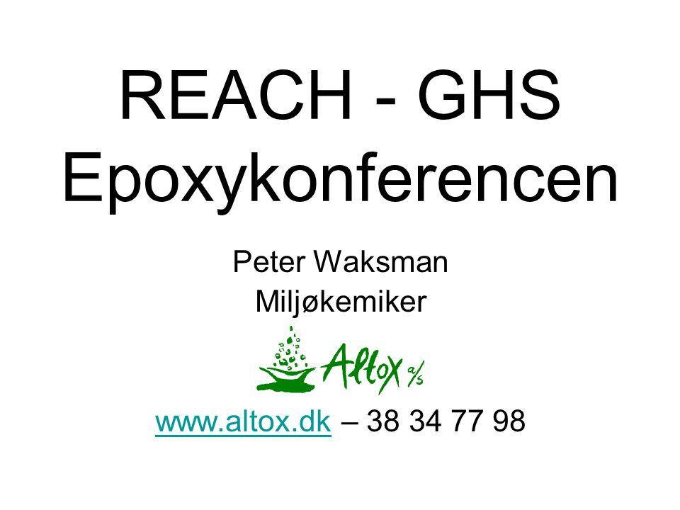 REACH - GHS Epoxykonferencen