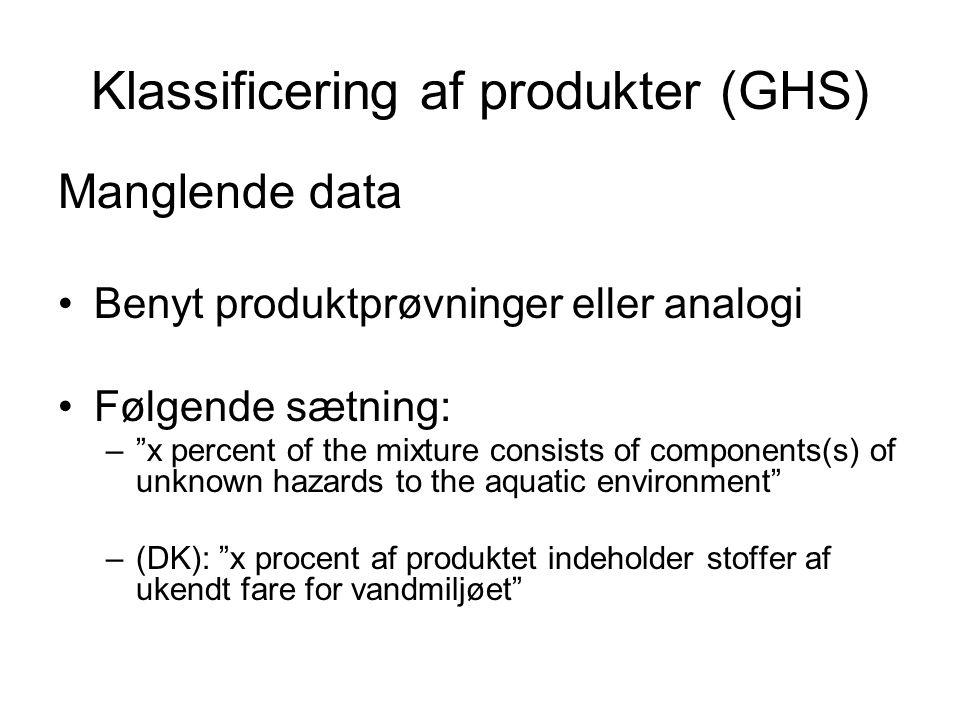 Klassificering af produkter (GHS)