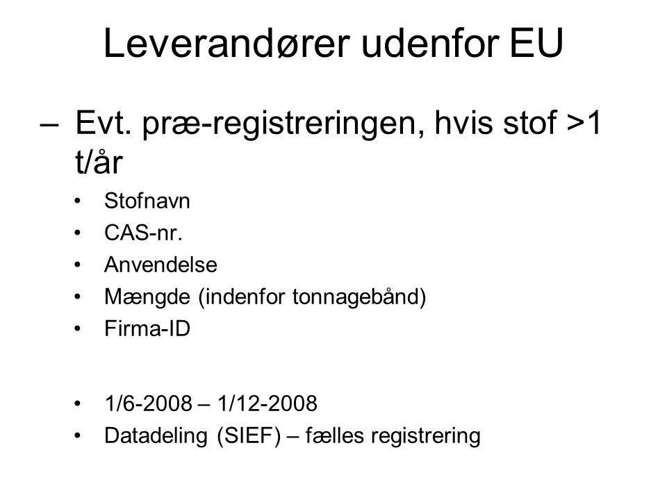 Leverandører udenfor EU