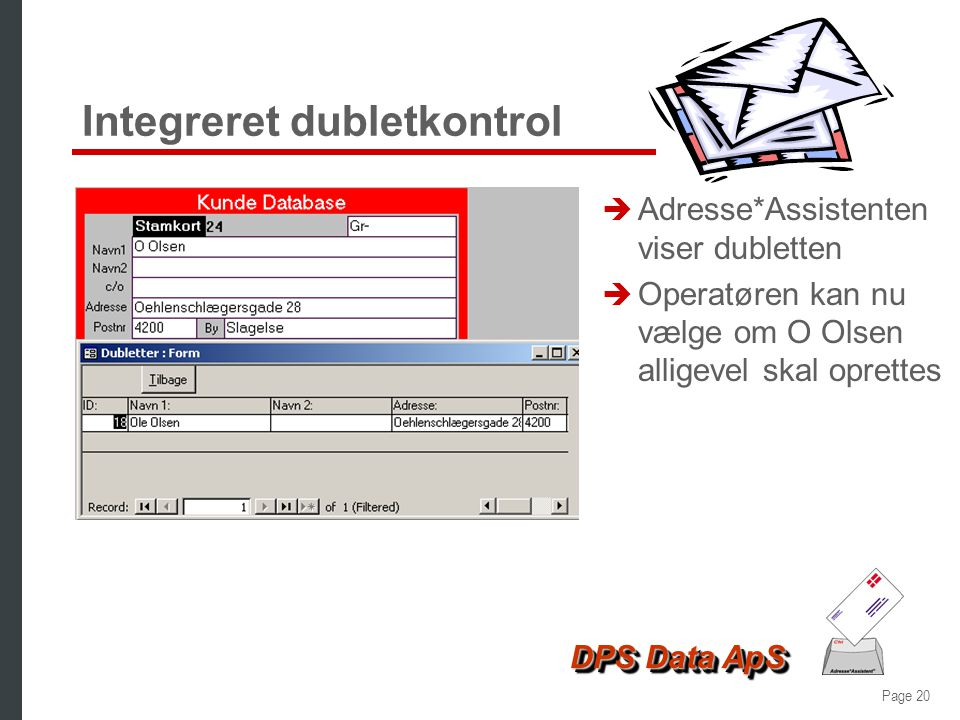 Integreret dubletkontrol