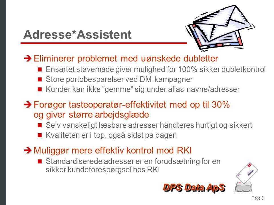 Adresse*Assistent Eliminerer problemet med uønskede dubletter