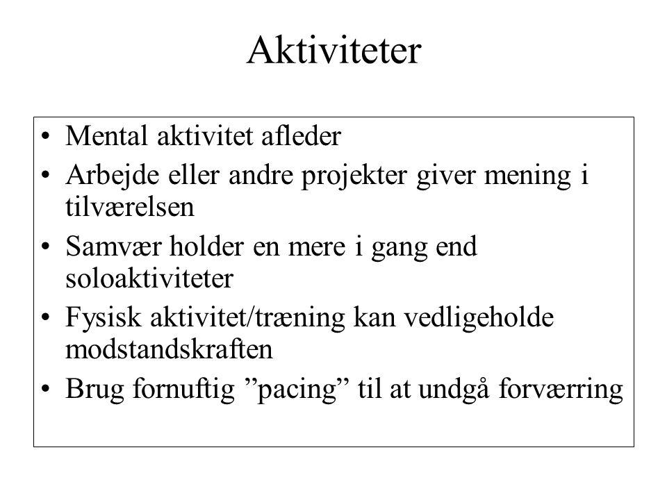Aktiviteter Mental aktivitet afleder