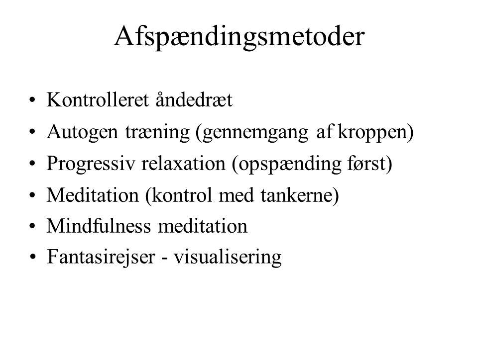Afspændingsmetoder Kontrolleret åndedræt