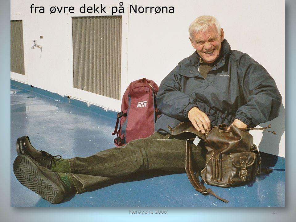 fra øvre dekk på Norrøna