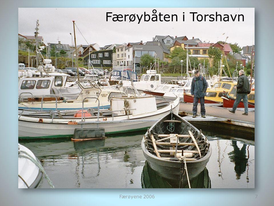 Færøybåten i Torshavn Færøyene 2006