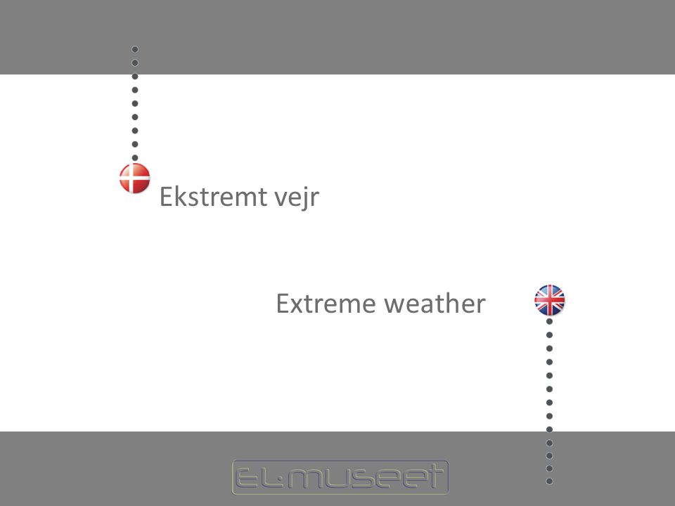 Ekstremt vejr Extreme weather