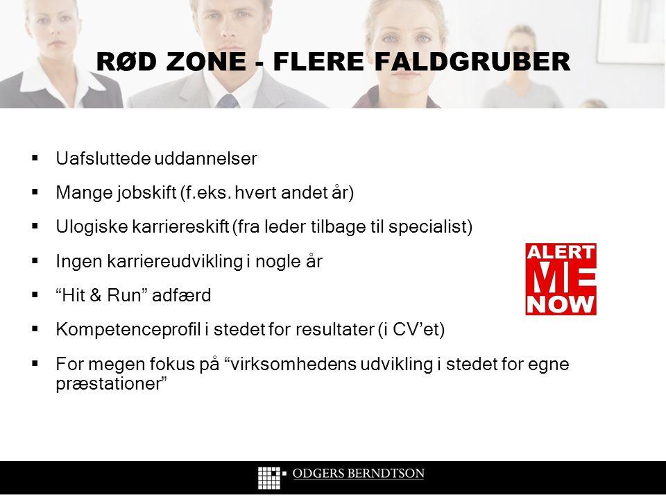 RØD ZONE - FLERE FALDGRUBER
