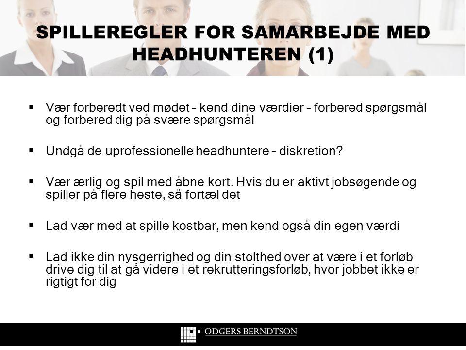 SPILLEREGLER FOR SAMARBEJDE MED HEADHUNTEREN (1)