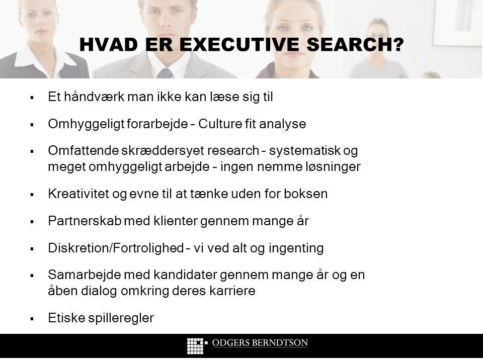 HVAD ER EXECUTIVE SEARCH
