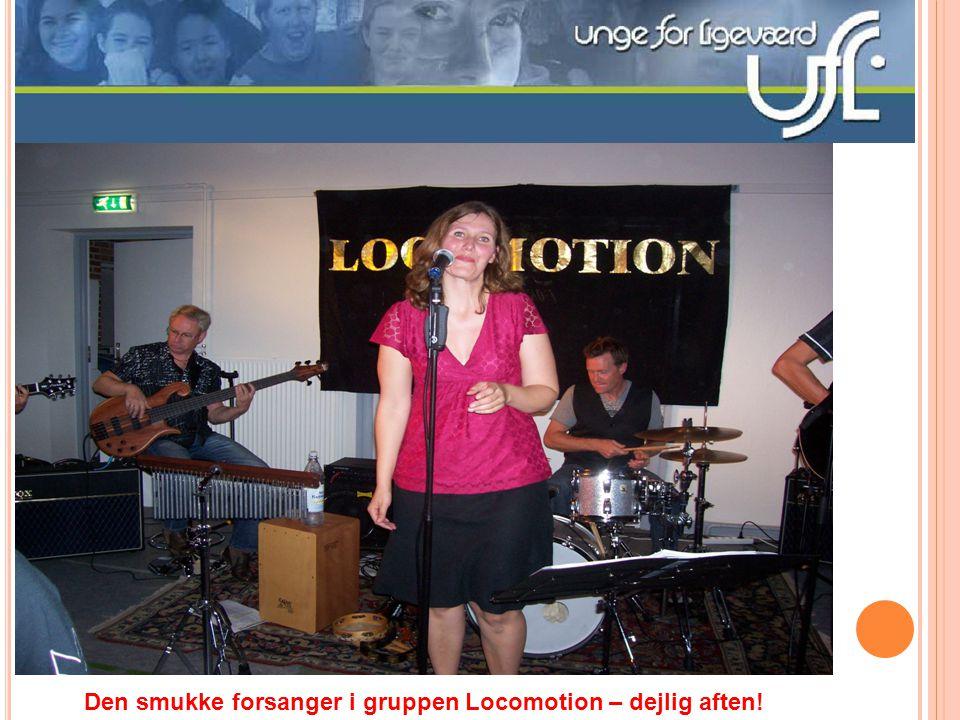 Den smukke forsanger i gruppen Locomotion – dejlig aften!