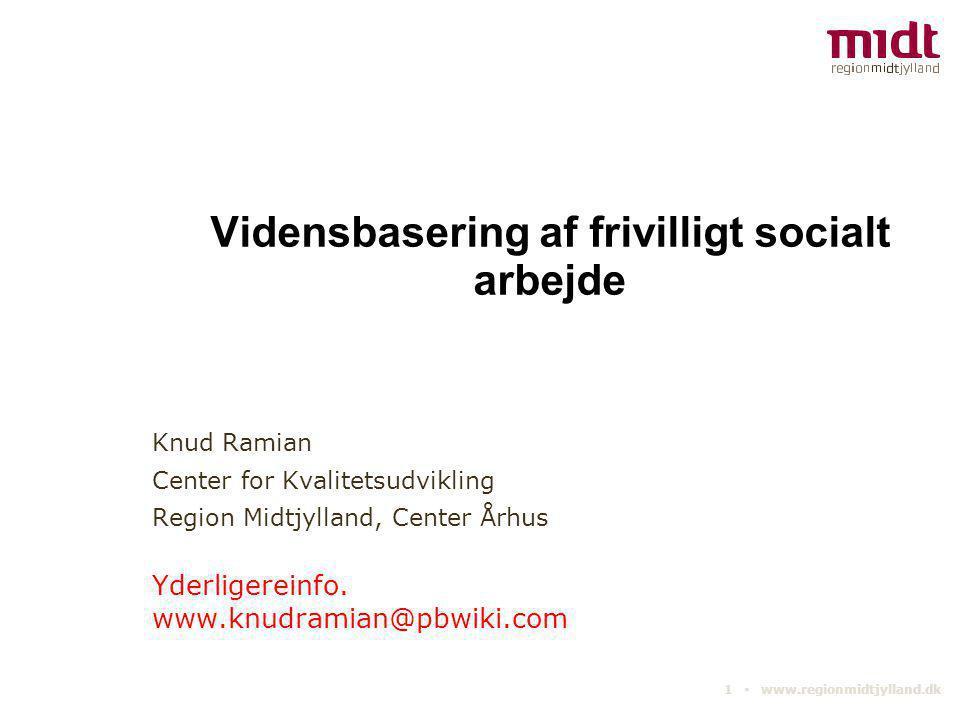 Vidensbasering af frivilligt socialt arbejde