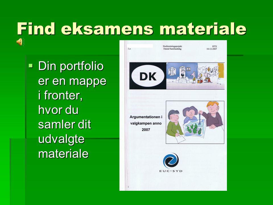Find eksamens materiale