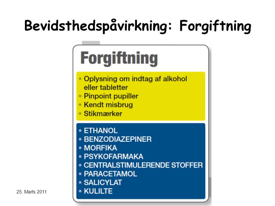 Bevidsthedspåvirkning: Forgiftning