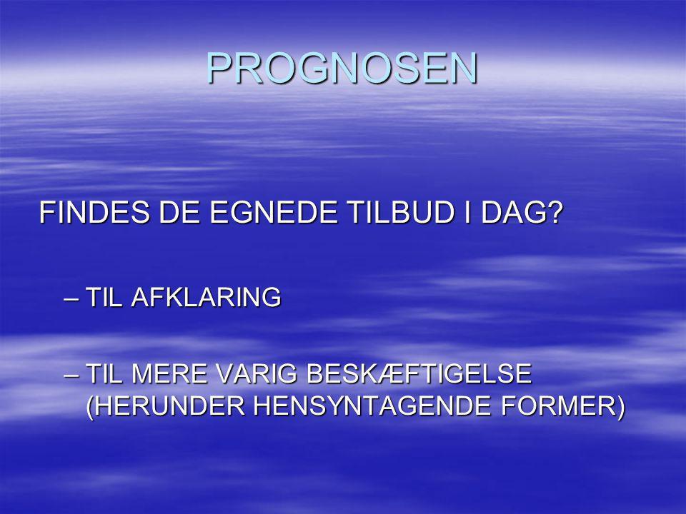 PROGNOSEN FINDES DE EGNEDE TILBUD I DAG TIL AFKLARING