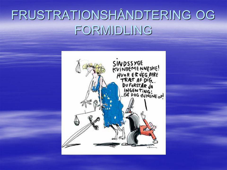 FRUSTRATIONSHÅNDTERING OG FORMIDLING