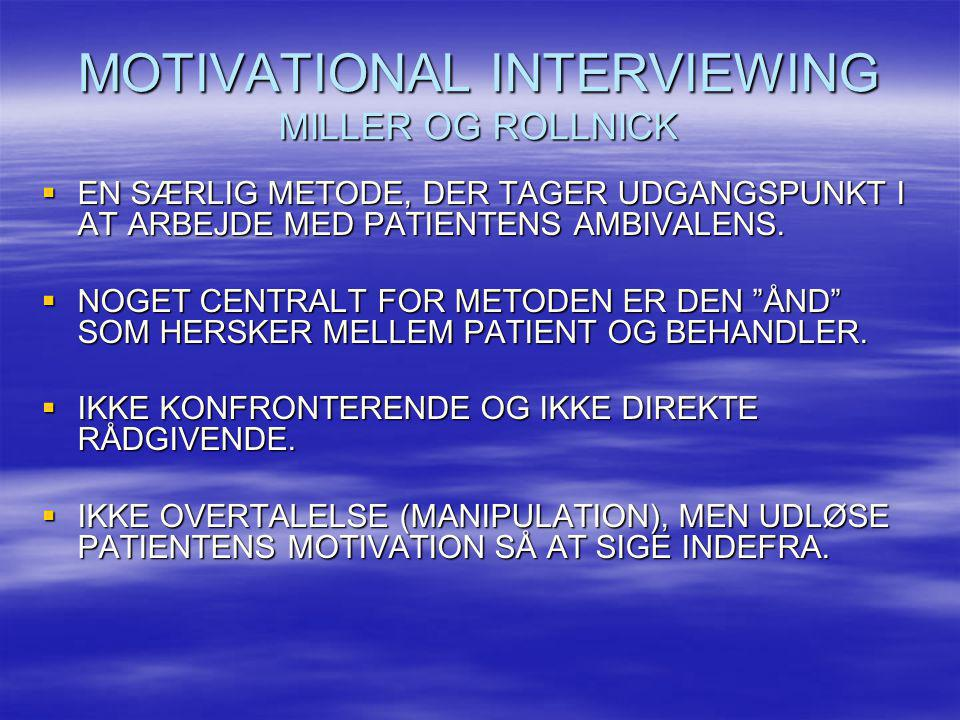 MOTIVATIONAL INTERVIEWING MILLER OG ROLLNICK