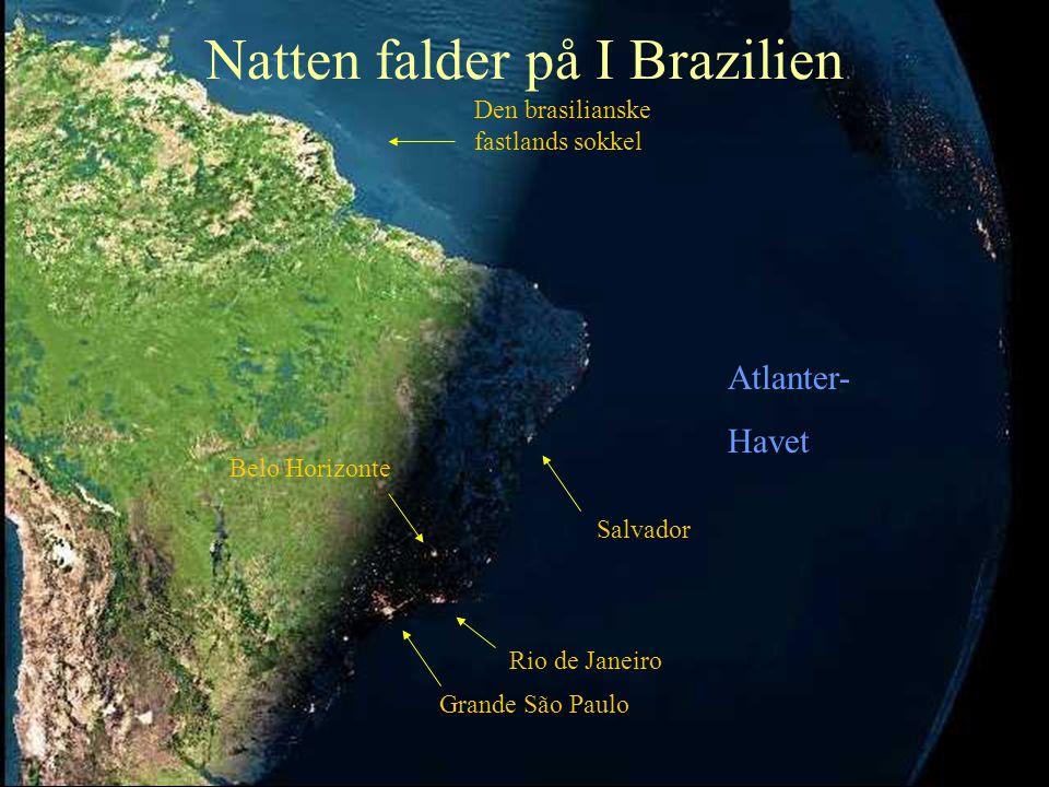 Natten falder på I Brazilien