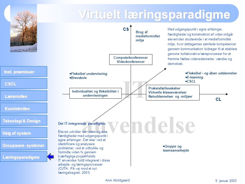 Virtuelt læringsparadigme