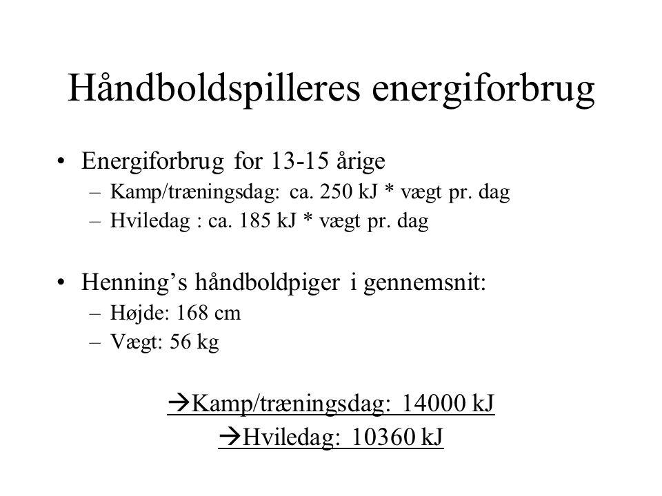 Håndboldspilleres energiforbrug