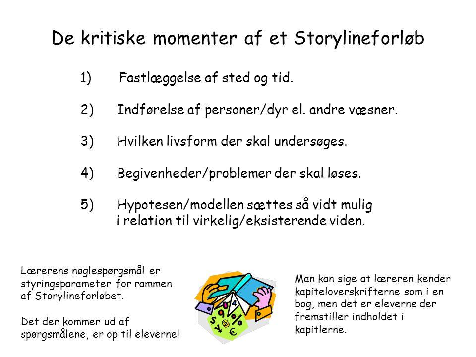 De kritiske momenter af et Storylineforløb