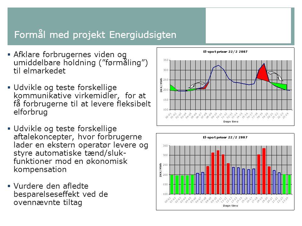 Formål med projekt Energiudsigten