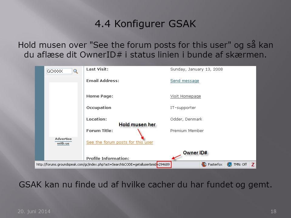 GSAK kan nu finde ud af hvilke cacher du har fundet og gemt.