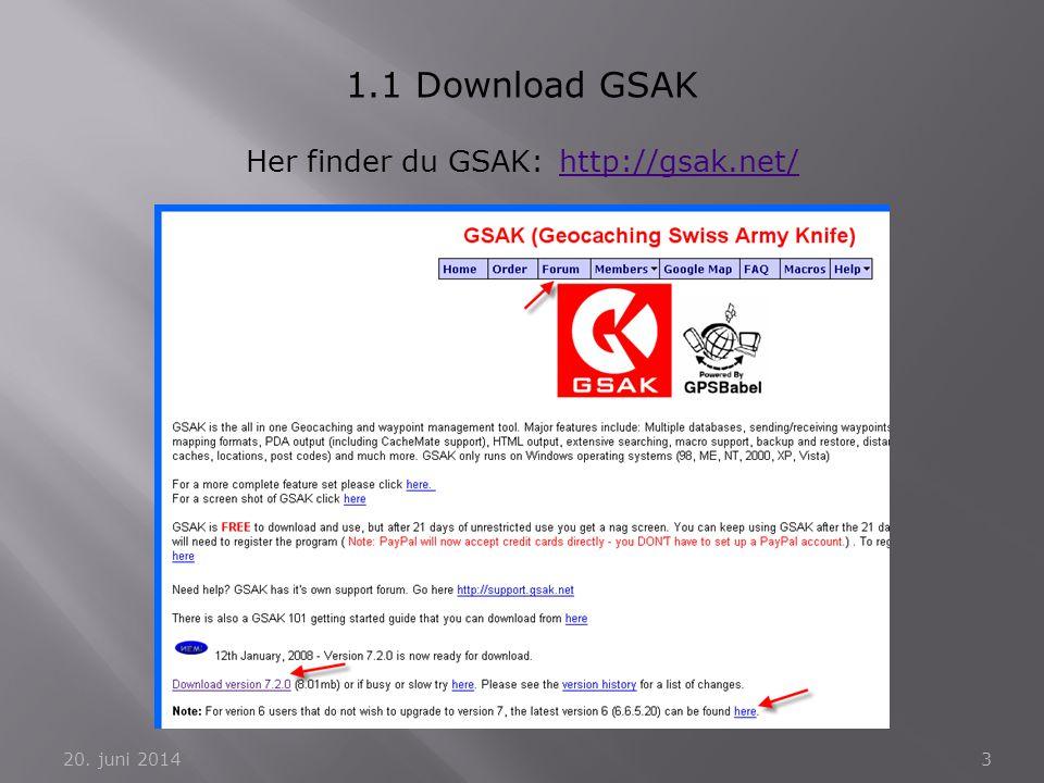 Her finder du GSAK: http://gsak.net/