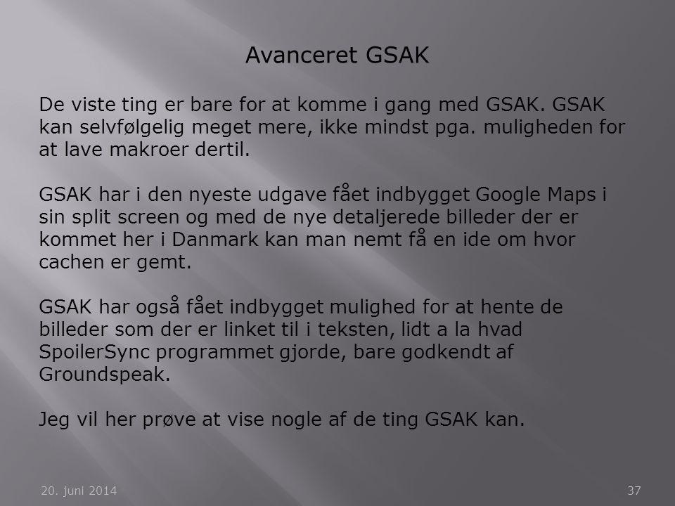 Avanceret GSAK