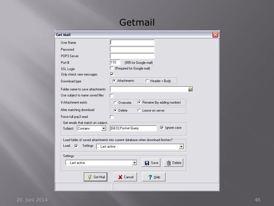 Getmail 2. april 2017