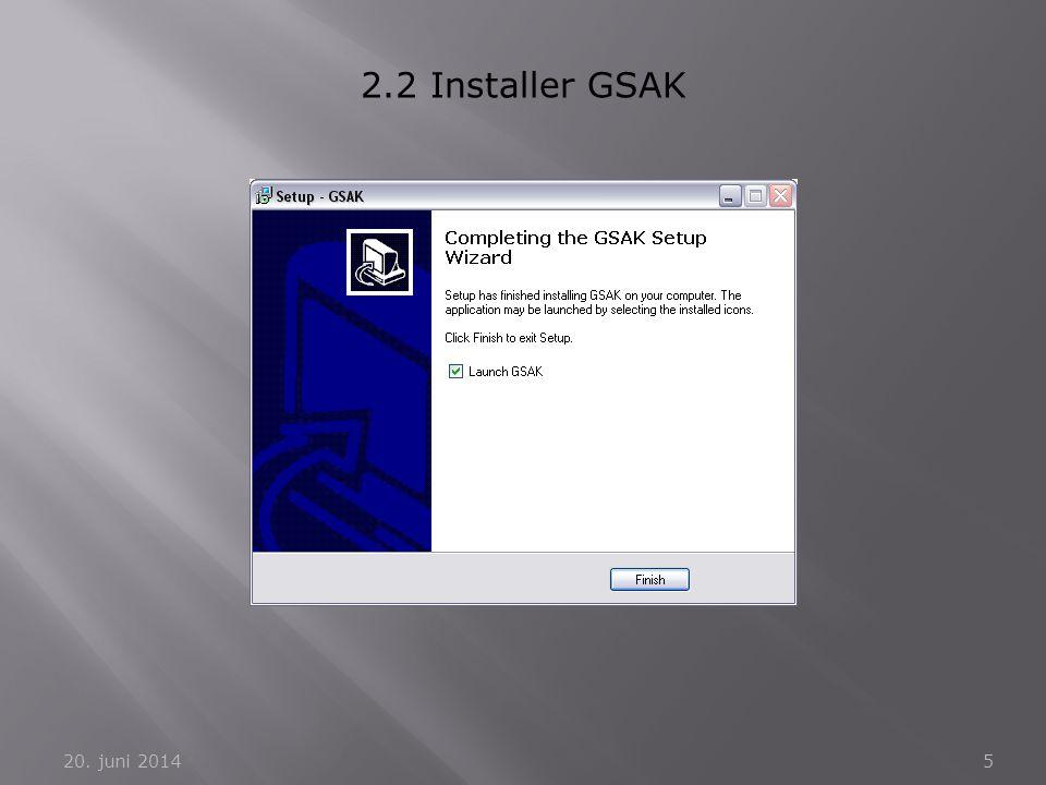 2.2 Installer GSAK 2. april 2017