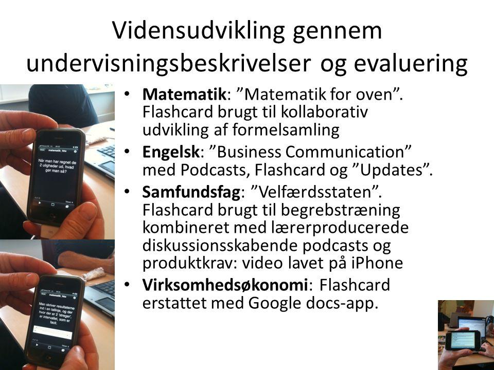 Vidensudvikling gennem undervisningsbeskrivelser og evaluering