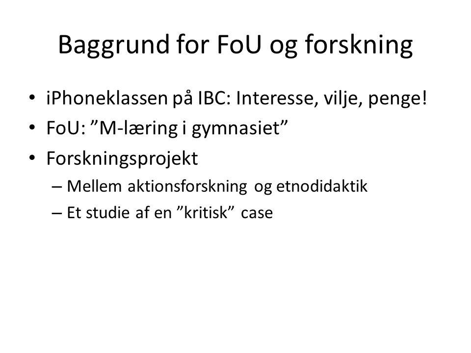 Baggrund for FoU og forskning