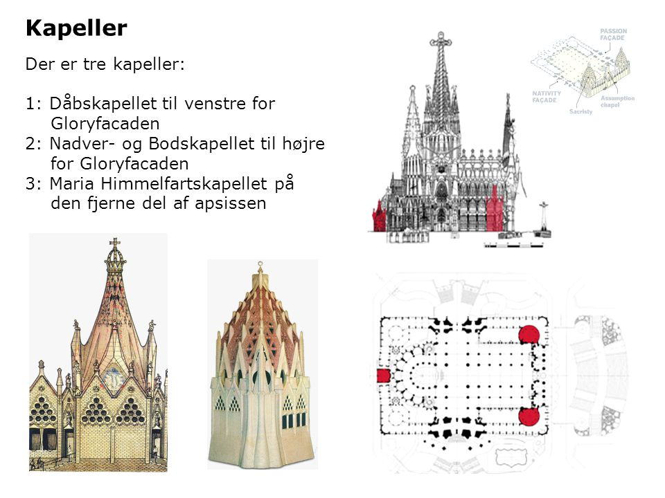Kapeller Der er tre kapeller: