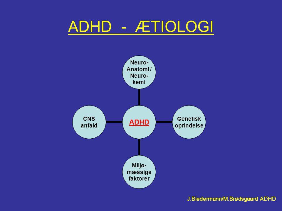 ADHD - ÆTIOLOGI J.Biedermann/M.Brødsgaard ADHD