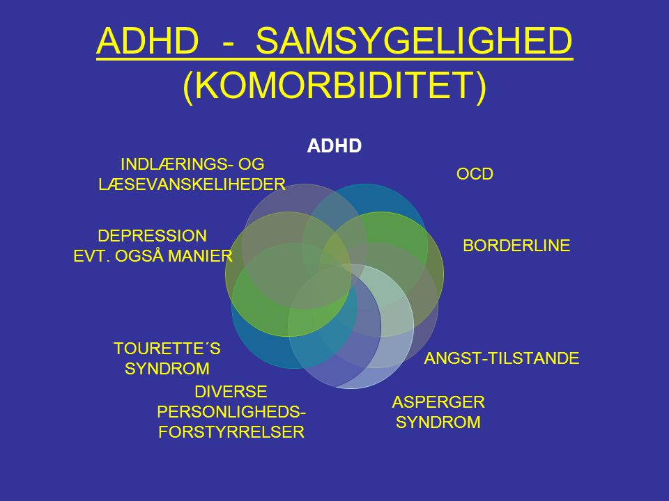 ADHD - SAMSYGELIGHED (KOMORBIDITET)
