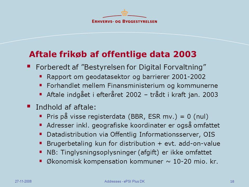 Aftale frikøb af offentlige data 2003