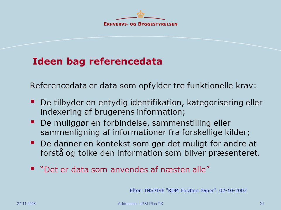 Ideen bag referencedata