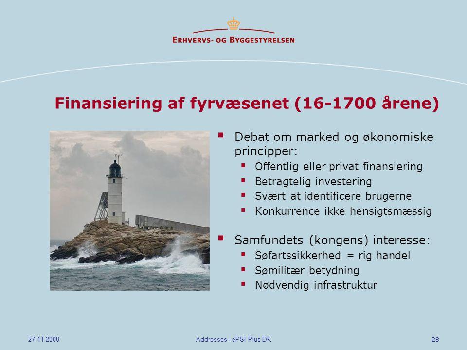 Finansiering af fyrvæsenet (16-1700 årene)