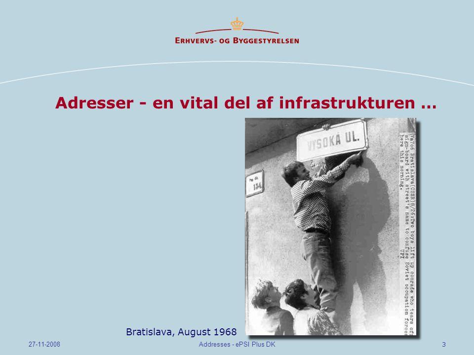 Adresser - en vital del af infrastrukturen …