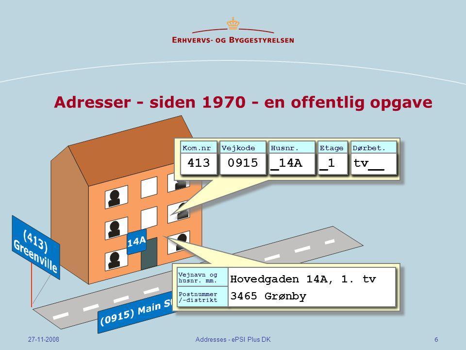 Adresser - siden 1970 - en offentlig opgave