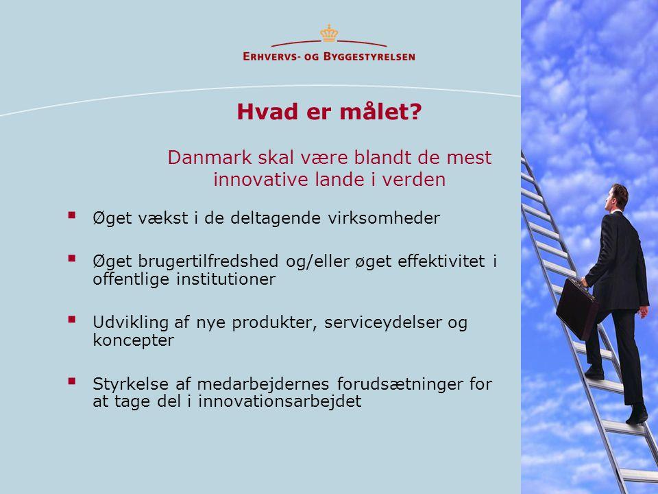 Hvad er målet Danmark skal være blandt de mest innovative lande i verden