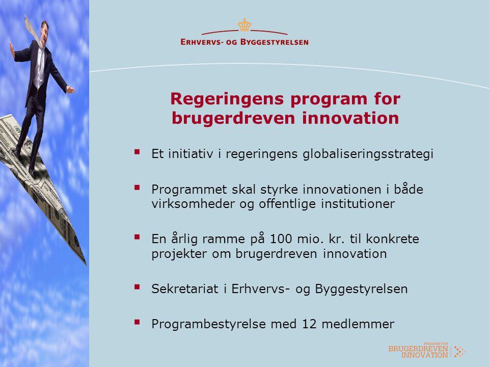 Regeringens program for brugerdreven innovation