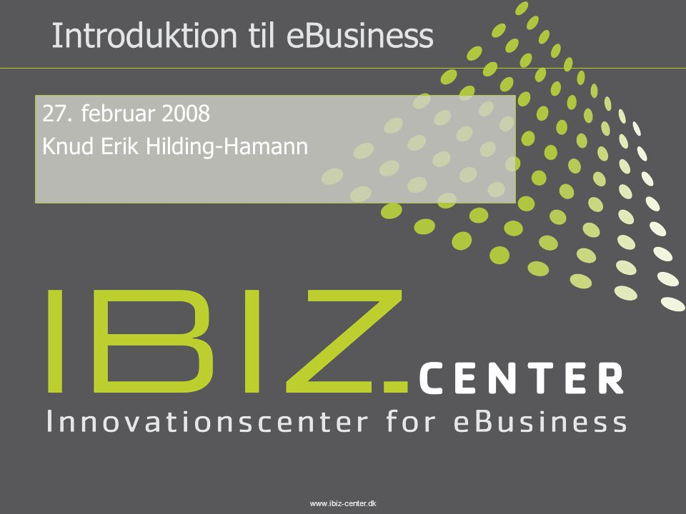 Introduktion til eBusiness