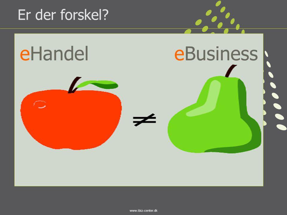 Er der forskel eHandel eBusiness www.ibiz-center.dk