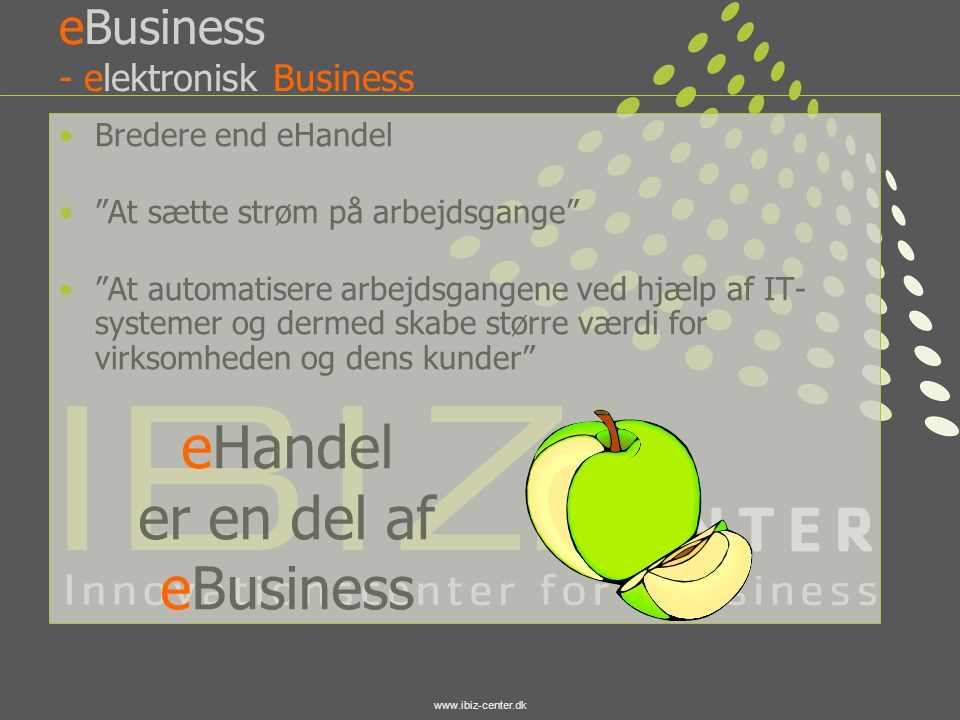 eBusiness - elektronisk Business